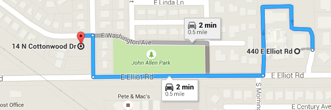 Just a short distance from the main parish campus.