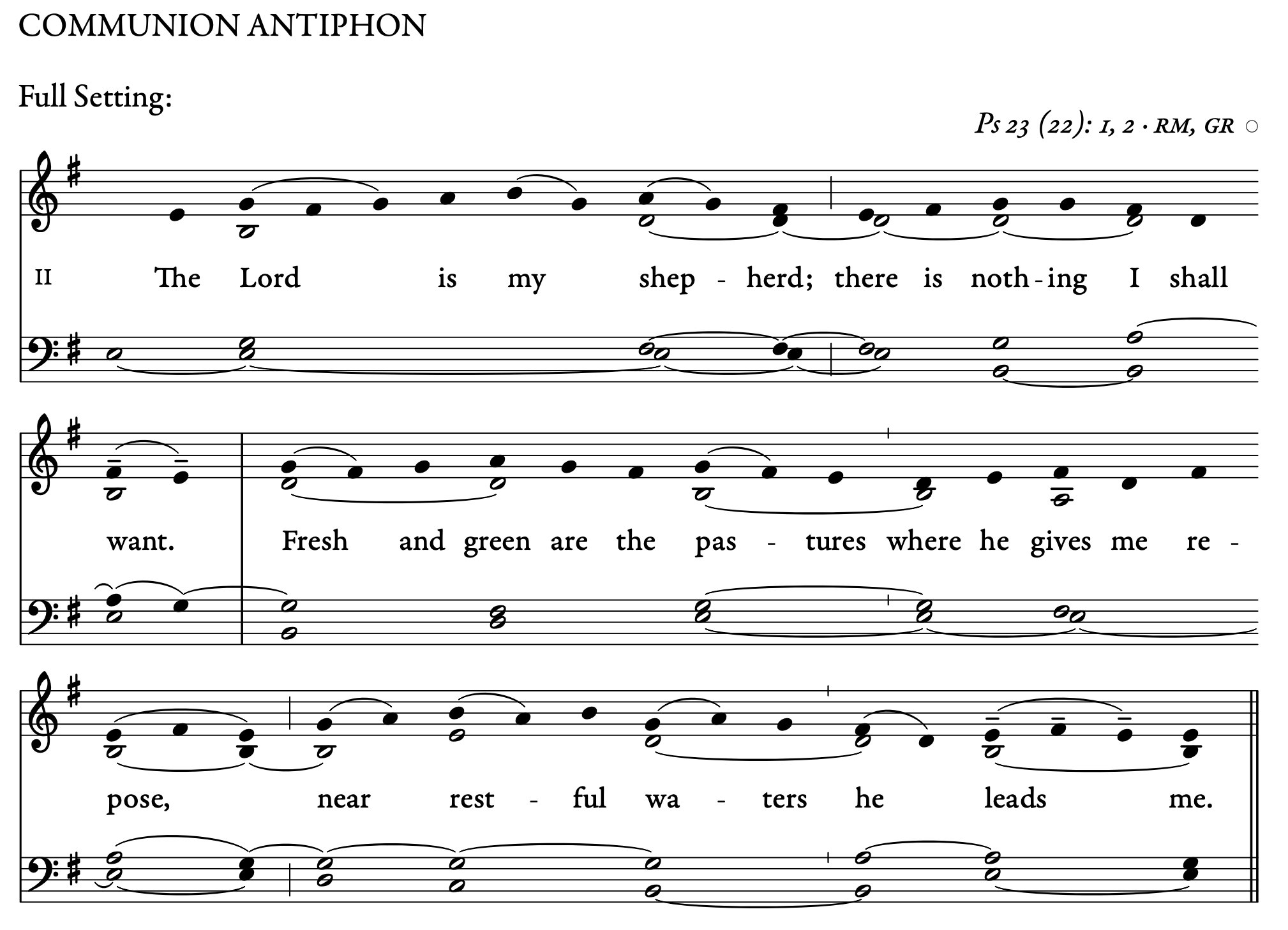 Entrance Antiphon